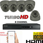 5X HD 1080P CCTV CAMERA SYSTEM OUTDOOR 2.4MP 8CH DVR HIKVISION HDMI P2P HI RES