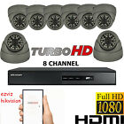 8X CCTV CAMERA SYSTEM 2.4 FULL HD 1080P 8 CHANNEL DVR HIKVISION HDMI REMOTE VIEW