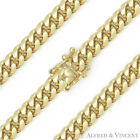 6.4mm Miami Cuban Curb Link Italy Sterling Silver 14k Yellow Gold Chain Bracelet