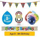 AGE 8 - Happy 8th Birthday Party Balloons, Banners & Decorations