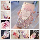 Lovely Dynamic Heart Liquid Quicksand Girl's Gift Clear TPU Case Cover For Phone