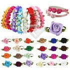 50pcs Satin Ribbon Rose Flower Craft Wedding Appliques Decor Wholesale YBRN31