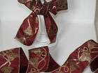 'A Tassle Royale' Burgundy Red & Gold - Luxury Wire Edged Ribbon LOW STOCK