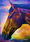 Giclee HORSE PRINT BAY Horse PRINCETON artist BETS 6 COLORS print size 14 X 18