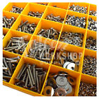 3500 ASSORTED M6 A2 STAINLESS SOCKET BUTTON CSK CAP SCREW NUT WASHER METRIC KIT