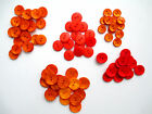 "VTG Buttons in shades of Orange, Red or Peach  sz 7/8"", 3/4"" or 5/8"" Flat 2-hole"