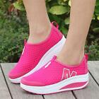 New Height Increasing Shoes Women's Casual Sport Walking Wedges Shoes Breathable