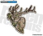 Elk Decal Camo Buck Caribou Hunting Bow Hunter Gloss Vinyl Sticker V2 (LH) HGV