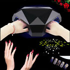 48W LED Diamond Shape Nail Dryer Cure UV Gel Lamp Light For Dual Hands Or Feet