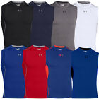 Under Armour HeatGear Compression Sleeveless Shirt Baselayer Funktions Top Sonic