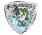 Catch and Release Decal Fish Largemouth Bass Fishing Gloss Vinyl Sticker HGV