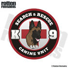 Belgian Malinois SAR K-9 Decal Search Rescue Dog Gloss Vinyl Sticker HGV