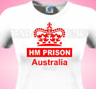 HM Prison Australia T-Shirt ladies Joke HOLIDAY Cricket Rugby