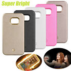 For Samsung Galaxy S5 S6 S7 Edge Luminous Selfie LED Light Up Phone Cover Case