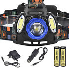 15000Lm 3x XML T6 Rechargeable Headlamp HeadLight Torch USB Lamp + Charger USA