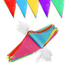 RAINBOW PARTY COLOURED BUNTING BANNER BIRTHDAY PENNANT DECORATION OUTDOOR INDOOR