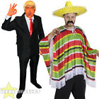 MENS PRESIDENT + MEXICAN MAN FANCY DRESS PAIR COUPLES COSTUME FUNNY NOVELTY