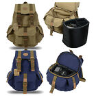 Rakuda Vintage Canvas Travel Backpack with Padded Camera Case Compartment