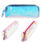 Colorful Pencil Case Hologram Organizer Pen Cosmetics Bag Coin Purse Zip Pouch