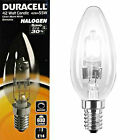 Duracell 42w SES E14 Halogen Candle Dimmable Energy Saving Light Bulb Lamps