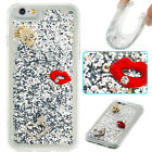 Soft Liquid TPU Dynamic Quicksand Glitter Silver Lipstick Case Cover For Phones