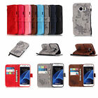 Strap Emboss Butterfly Leather Wallet Card Flip Case Cover For Samsung Huawei YB