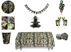 Camo Party in a Box or Party Ware Separates - Birthday Decorations  fnt