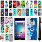 For BLU R1 HD Various Design TPU SILICONE Soft Protective Case Cover + Pen