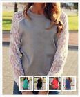 New Fashion Women Bud Silk Joining Together Blouse Loose Long Sleeve T - shirt