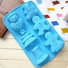 6 Holes Christmas Catoon Chocolate Silicone Mold Candy Jelly Pudding Cake Decor