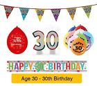 AGE 30 - Happy 30th Birthday Party Banners, Balloons & Decorations