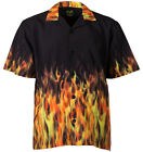 Benny's Red Flames Bowling Shirt