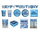 HAPPY BIRTHDAY BLUE GLITZ - Party Balloons, Banners & Decorations/HB