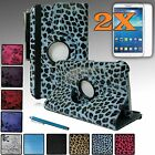 """For Samsung Galaxy Tab3 8.0 PU Leather Rotating 360 Case Cover w/ Stand 8"""" NEW"""