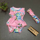 2pcs Newborn Baby Girl Floral Romper Bodysuit Headband Sets Summer Clothes UK <br/> ❤❤EXCELLENT QUALITY❤❤UK STOCK❤❤FAST&amp;FREE❤❤