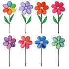 LARGE GARDEN FLOWER WINDMILL INDOOR OUTDOOR WIND MOBILE ORNAMENT SPIN FLOWERS
