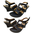 Born Womens 6090 Slip On Open Toe Ankle Strap Casual Wedges Comfort Sandals