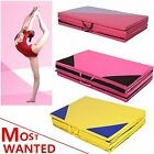 """Soft Play Folding Panel Gymnastics Mat Pattern Gym Fitness Exercise BRT 2"""" Thick"""
