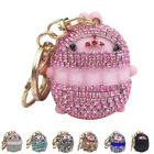 Ladies Crystal Chubby Rabbit Keychain Lovely Handbag Phone Ornament Key Ring