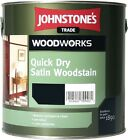 Johnstone's Woodworks Quick Dry Satin Woodstain (11 Colours) 0.75LTR