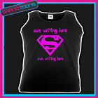 HEN PARTY NIGHT PERSONALISED UNISEX VEST TOP OWN DESIGN  PRINTED FRONT & BACK