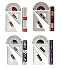 Official Football Club - ANGLE SET (4 Piece) (School/Stationery/Maths/Geometry)