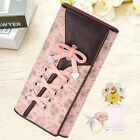 Womens Long Card Holder Leather With Bandage Bowknot Clutch Purse Wallet Handbag