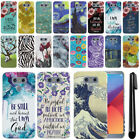 For LG G6 H870 PATTERN HARD Protector Back Case Phone Cover + Pen