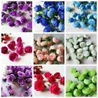 10pcs 16 Colors Simulation Rose Flowers For Wedding Party Home Decoration