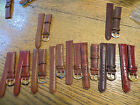 NOS LeJour Brown Quality Leather Watch Band Bands 18MM Different Styles