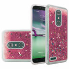 Tempered Glass+Motion Glitter Rubber PC-TPU Case Cover For ZTE Prestige 2 N9136
