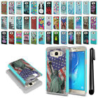 For Samsung Galaxy J7 J710 2nd Gen Hybrid Bumper Shockproof Case Cover + Pen