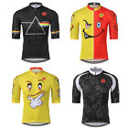 Men's Cycling Jersey Pro Team Sports Bike Half Sleeve Clothing Red-Yellow
