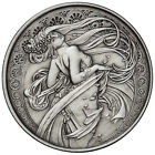 5 OZ SILVER COIN ALPHONSE MUCHA DANCE ANTIQUE *ONLY 500 #2 IN SERIES COLLECTION
